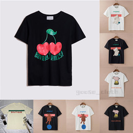 Sunmmer Womens Mens Designers T Shirts Tshirts Fashion Letter Printing Short Sleeve Lady Tees Luxurys Casual Clothes Tops T-shirts Clothing 2021 on Sale