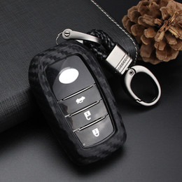 Discount toyota rav4 key case Remote Key Fob Case Keyring Keychain Keyshell Holder Cover Fit For Toyota Camry RAV4 Prius Accessories