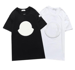 Wholesale shirt designs resale online - 2021 New luxur embroidery T shirt fashion Men and women Design T shirts Female Tshirts high quality black and white100 cottn