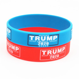 Wholesale black gloves boxes for sale - Group buy Donald Trump Silicone Bracelet Keep America Great Wristband the USA General Election Bangle Soft Sport Band Styles OWF2657