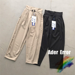 Wholesale paperbag pants resale online - 2021ss paperbag waist pants Men Women Drawstring High Street Stitching Sweatpants Thickening Trousers