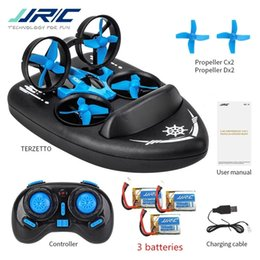 Wholesale Upgraded H36 JJRC H36F Terzetto 1 20 2.4G 3 In 1 RC Vehicle Flying Drone Land Driving Boat Mini Drone Model Toys RTR VS E016F 201208