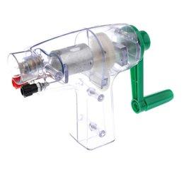Experimento mecánico generador de energía eléctrica Modelo Lab Manivela juguete en venta