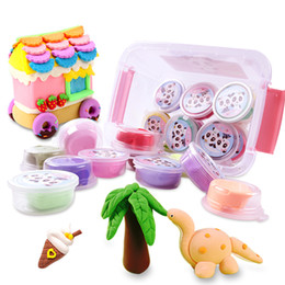 Wholesale 24 color kit Air Clay Polymer Plasticine Modelling DIY Soft Creative Learning Toys