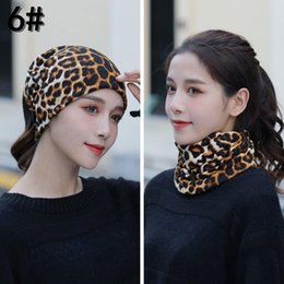 Discount female winter face mask Women Print Face Scarf Winter Spring Mask Female Bandana Designer 2020 Warm Foulard Cotton Soft Neck Scarves Ring Wraps