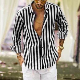 Wholesale vertical striped shirt mens for sale – dress Vertical Striped Shirts Men Slim Fit Long Sleeve Shirts Men Casual Summer Button Gentleman Fashion Mens Blouse Fe4