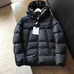Wholesale velvet down jacket resale online – 2020 Winter Jacket New Fashion Down Jacket Embroidery High Quality Duck Down Jacket Mens Winter Coats European Size M XL