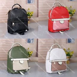 Wholesale spring phones resale online - Designers Mini Backpack Palm Springs Flowers Leather Backpacks Women Mini Shoulders Bag Lady Back pack Mobile Phone Purse