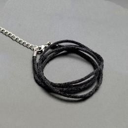 100pcs Cire ligne Collier Pendentif Charms Cordon Perles Chaîne Homard Bracelet Corde TB