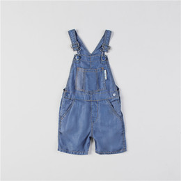 Kids Denim Overall Pants Baby Suspender Pants Solid Baby Boy Jeans Overalls Blue Dark Grey Girls boys Cute Overalls Pants for Kids on Sale