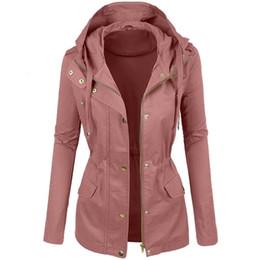 Wholesale fashionable woman s winter coat resale online - Winter Coat For Women Winter Fashionable Plain Color Short Lapel Motorcycle Leather Blouses Plus Size Leather Blouses Coats