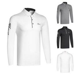 Kışın Yeni golf giyim erkek uzun kollu