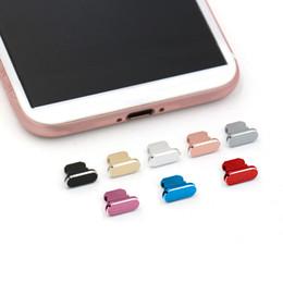Bouchons anti-poussières pour iPhone 11 Pro Max XR 8 plus Coloroufle Métal Chargeur de poussière Bouchon à bouchon de bouchon de bouchon de bouchon en Solde