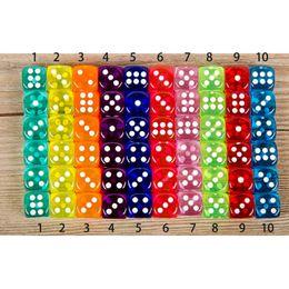 Dados Set 10 colores de alta calidad 6 caras Gambing los dados por la directiva del club fiesta familiar Juegos mazmorras y los dados del dragón en venta