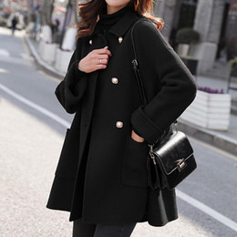 Wholesale longer coats resale online - SAGACE fashion Woman Plus Size Long Wool Coat Elegant Blend Coats Slim Female Long Coat Outerwear Jacket Female Slim Fit