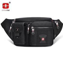 multifunctional male waist bag UK - Multifunctional Unisex Waist Pack Casual Fanny Pack Men Belt Bag Phone Pouch Bags Women Black More Pockets Small Waist Bag Male LJ200930
