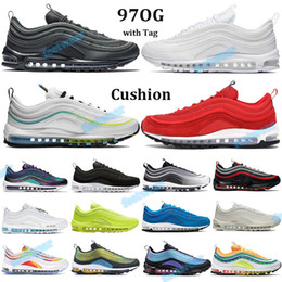 Wholesale olympics rings for sale - Group buy New OG Running Shoes Triple prm Black White Volt worldwide mens women Cushion sneakers gradient fade Olympic rings pack jesus Trainers Tag