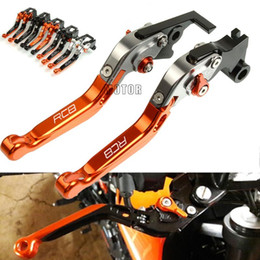 Discount clutches parts For RC 8 RC8 2009-2020 Motorcycle Brake Clutch Levers CNC Adjustable Folding Extendable Levers Motorbike Accessories Par