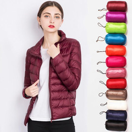Wholesale ivory stand collar winter coat resale online - Autumn Winter Women Basic Jacket Coat Female Slim Hooded Cotton Coats Casual Black Jackets Plus size jacket