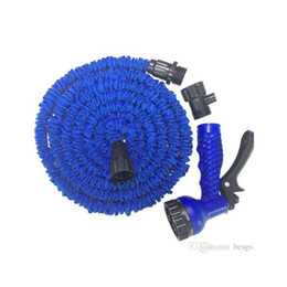 expandable hose connector Canada - Retractable Fast Connector Water Hose With Multi Size Water Gun House Garden Watering Washing Latex Expandable Hose Set Dh0755-6 T03 1Vwmi