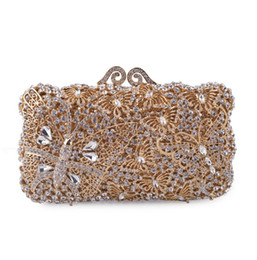 designer gold clutch bags Canada - Purse Bags Gold Crystal Bag Shoulder Animal Party Women Female Wedding Evening Cocktail Clutches Handbag Prom Clutch Thfjk
