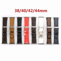 NUOVO DESIGN Strap in pelle di lusso per Apple Watch Se Band Series 6 5 4 3 2 40 mm 44mm 38mm 42mm Braccialetto per cintura IWATCH in Offerta