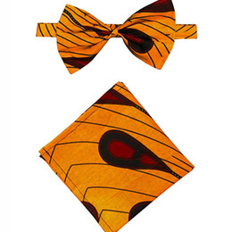 Wholesale african wax print fashion resale online - African Men bow Tie Fashion cotton Wax Print Men s Bow Ankara Tie african accessories for men gift