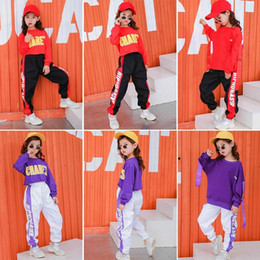 Discount christmas coats for girls Kids clothes girls Set 8 to 12 Years hip hop dance costumes kids jazz cheerleader costume kids tracksuit for girl 140 130 Y200325