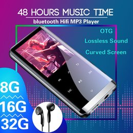 Discount radio record mp3 32GB bluetooth MP3 Player Earphones HiFi fm Radio mini USB mp3 Sports MP 4 HiFi Portable Music Players Voice Recording R