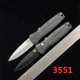 Vente en gros Benchmade BM 3551 tactique automatique EDC Auto survie Couteau de poche 154CM lame T6061 poignée en aluminium 535 940 781 couteau