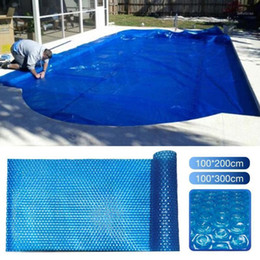 Wholesale pools cover resale online - Swimming Pool Cover Easy Set Dust proof cloth Spa Covers Blue PE film For outdoor swim pools Accessories1