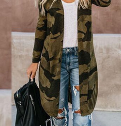 Wholesale trench coat women xxl resale online - New Camouflage Print Women Trench Coat Mid length Womens Coat Army Green Coat S M L XL XXL XXXL XL XL