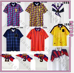 Escócia 90 91 93 94 95 96 1998 Final da Copa do Mundo Fora Retro Jerseys Fora Vintage Camisa de Futebol Clássico em Promoção