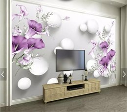 purple wallpaper wholesale UK - Wallpaper 3d Custom Hand Painted Purple Calla Lily Beautiful Fresh 3D Living Room Bedroom Background Wall Decoration Wallpaper
