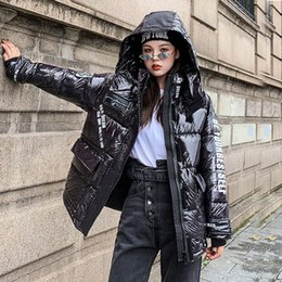 Wholesale drop waist coat for sale - Group buy Womens wadded jaqueta feminina winter coat female padded jacket stand collar loose padded jacket Drop Shipping