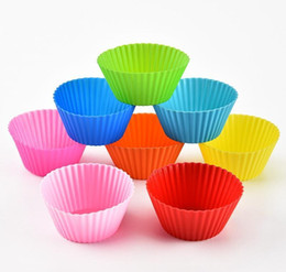 Sile Muffin Cupcake Moulds 7cm Colorful Cake Cup Mold Case Bakeware Maker Baking Mould sqcrDu sports2010