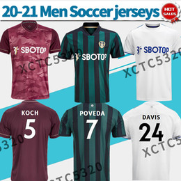 Wholesale cooper man for sale – custom 20 Leeds soccer jersey home away third maroon men soccer shirt POVEDA BAMFORD COOPER customized Football uniforms