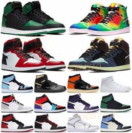 venda por atacado with box 2021 men women fearless chicago obsidian mocha satin retro shoes 1 1s low mens Jumpman basketball court grey 36-47