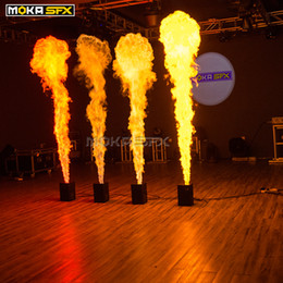 2pcs lot One Head Flame Machine DMX Fire Machine Spray 3m High Flame Projector with Safety Channel Stage Flame Machine on Sale