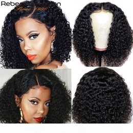 Wholesale rebecca for sale – custom Rebecca Curly Bob Wig Brazilian kinky curly Human Hair Wigs Preplucked Deep Wig Remy Hair jerry x4 Closure