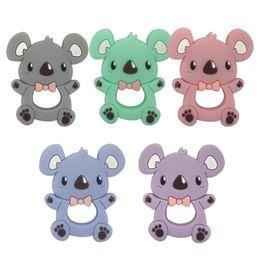 Wholesale 10pcs Silicone Teether Cartoon Koala Teething Toddler Toys For Baby Infant Toy Silicone Baby Teether Baby Products Teething Toys 201017