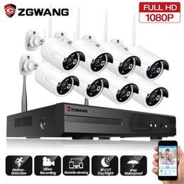ZGWANG 2MP 8CH IP WIFI Caméra étanche Intérieur Extérieur 1080P sans fil Accueil Record Office de sécurité CCTV Surveillance Kit système en Solde