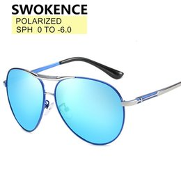 sunglasses myopia Canada - Swokence Sph 0 to -6 Men Women Polarized Shortsighted Sunglasses Metal Frame Myopia Glasses Nearsighted Optical Spectacles F132