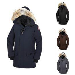 Wholesale canada man down jacket resale online – DHL canada men goose Langford Parka Coat Outdoor warm and windproof down jacket hooded jacket Winter Coat Parka Sale
