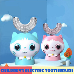 Wholesale 360 Degrees Kid Electric Toothbrush U Shaped Automatic USB Charging Child Tooth Cute Carton Mouth Oral Care Cleaning Brush LJJP652