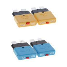 circuit breakers UK - 4PCS 28V 15A+20A Car Circuit Breaker Blade Fuse Resettable Marine Automotive