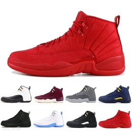 neon sport shoes UK - Basketball Shoes 4 4s Sail Fire Red Neon 12 12s Dark Concord Reverse Flu Game Mens Trainers Sneakers Sports Size 40-47