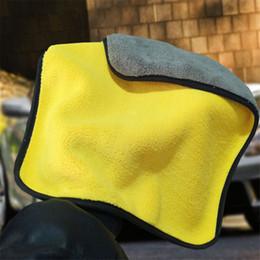 Top Car wasTowel Pflege Polier waschen Handtücher Plüsch Mikrofaser Waschen Trocknen Handtuch Starken Thick Plüsch Polyester-Faser Auto-Putztuch 4.7 im Angebot