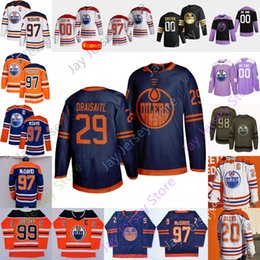 Wholesale jersey shore resale online - Edmonton Oilers Ice Hockey Jersey Koskinen Lagesson Larsson Neal Nygard Puljujarvi Quine Russell Russell Shore Skinner Smith Turris Wells