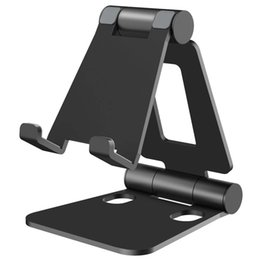 foldable phone holder stand NZ - SeenDa Aluminium Alloy Phone Stand for Huawei iPhone Xiaomi Universal Foldable & Rotatable Phone Holder Tablet Stand for iPad